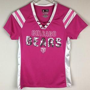 NFL Chicago Bears Pink Sequenced Jersey CrissCross